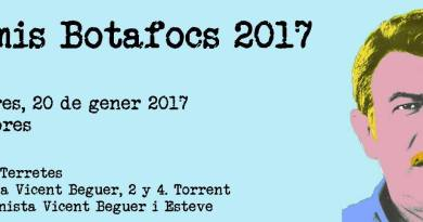 La Falla Cronista publica los premiados en sus Premis Botafocs 2017