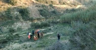 Rescatan a un ciclista en el Barranc de l'Horteta tras precipitarse desde ocho metros de altura