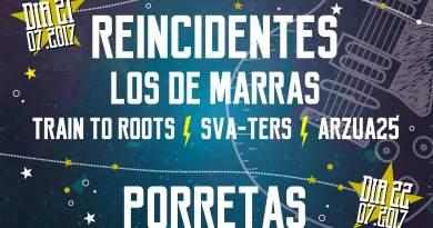 Reincidentes y Porretas son los cabeza de cartel del Rockejat 2017