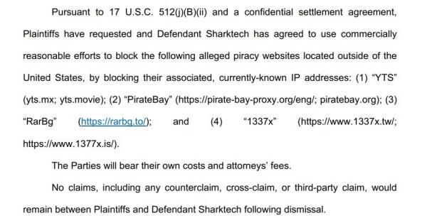 sharktech dismiss