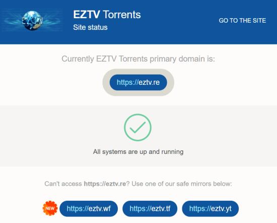 EZTV Status