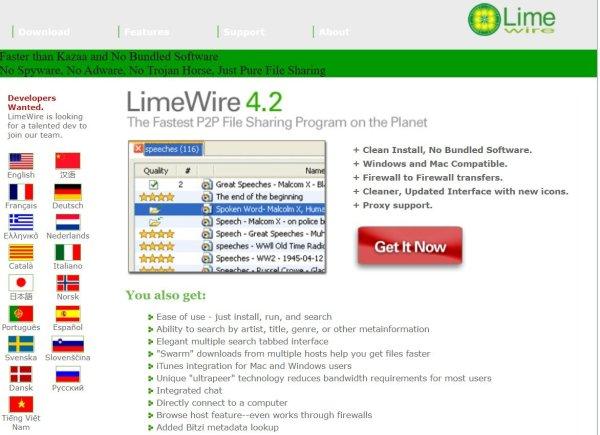 limewire.com 2004
