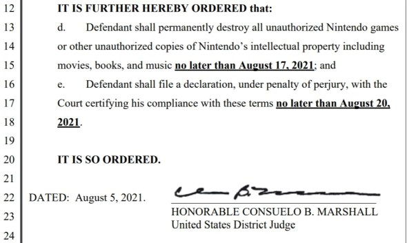romuniverse injunction