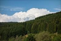 Wolken über Wittgensteiner Wald.