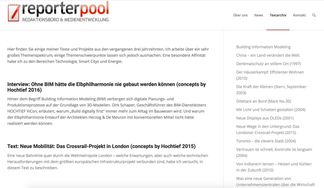 Screenschot Reporterpool