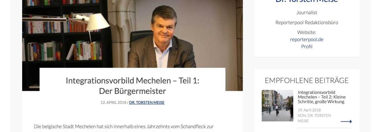 Blogbeitrag Diversity Mechelen Mechelen, Vielfalt, Diversity, Stadtentwicklung, Dr. Torsten Meise, Journalist, Digitalexperte