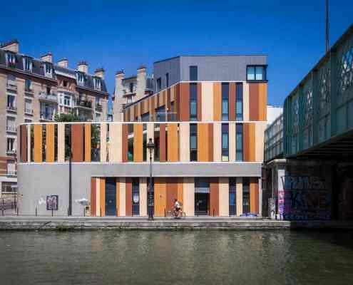 Canal de l'Ourcq. Modern Architecture in Paris. © Dr. Torsten Meise Journalist Hamburge 2018