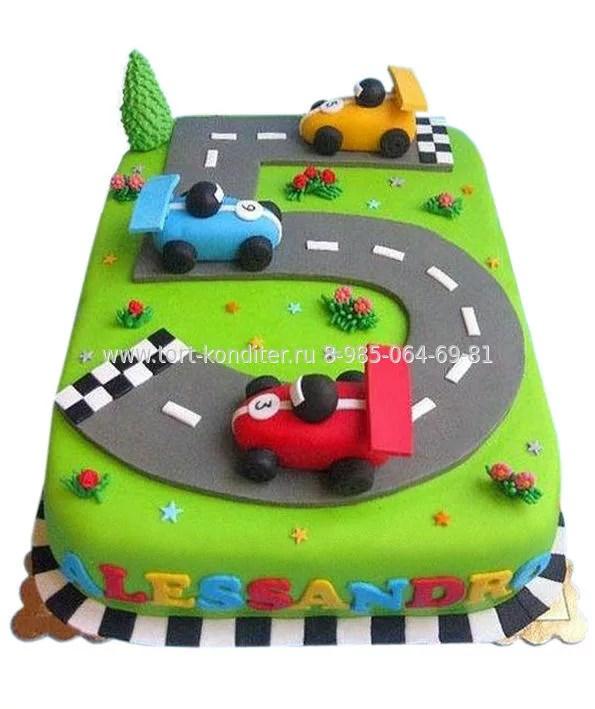 Торт для мальчика Трасса на 5 лет | Детские торты на заказ ...