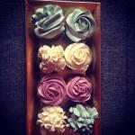 Pasztell karácsonyi cupcake díszítés