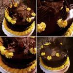 Lime és csoki krémmel rétegezett, csokoládé glazúrral bevont torta készítése