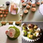 Húsvéti citromos cupcake, cukrász krémmel