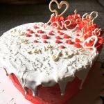 Valentin napi szív torta készítése