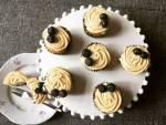 Áfonyás cupcake, citromos cukrászkrémmel