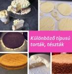 Különböző torta tészták…. de mi a különbség?