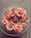 Vajkrém virágos citromos torta