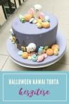 KAWAI halloween torta díszítése, videós segítséggel