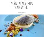 Alma mousse, mák mousse, sós karamell, citrom és matcha morzsa...