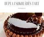 Dupla csokoládés, bogyós insertes tart