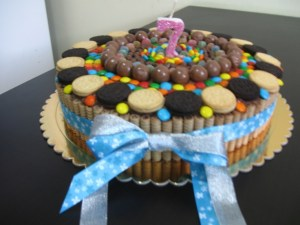 Tortas decoradas con galletitas (7)