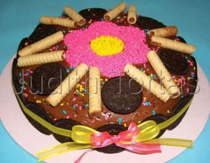 11 Bonitas tortas decoradas con galletas oreo (7)