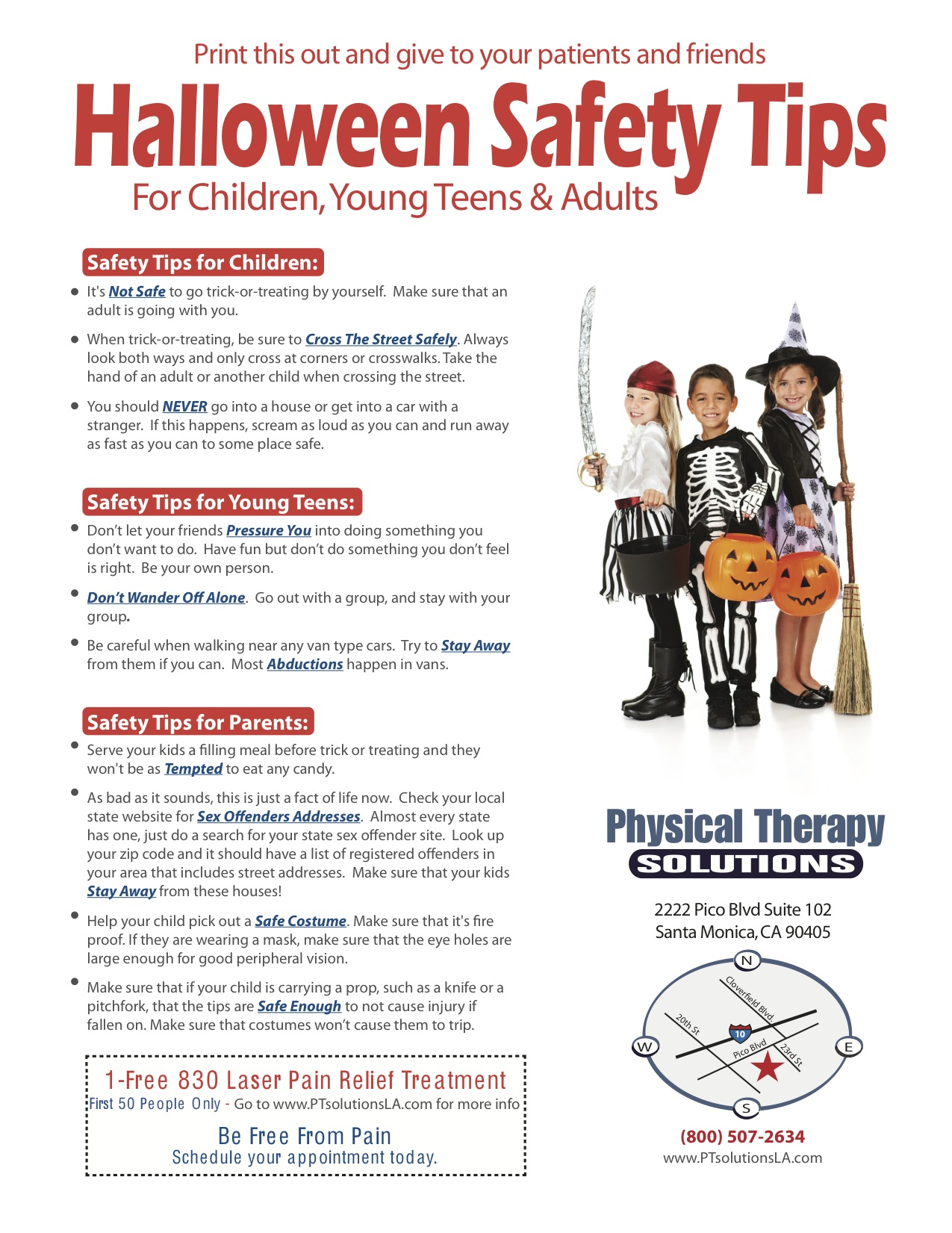 Be Safe Trick Or Treating On Halloween