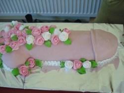 #в200 (18) торт на девичник член в цветах