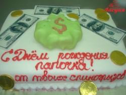 #п160(40) торт для папы мешок денег