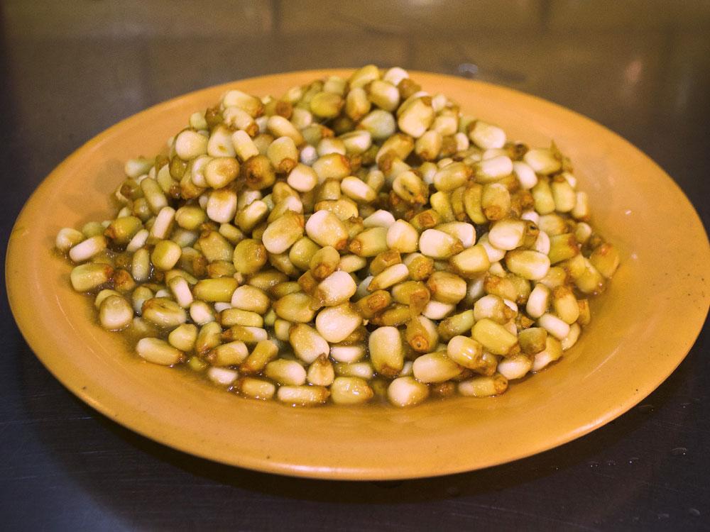 nixtamal on a plate