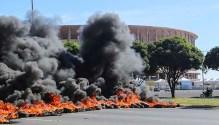 Protesters Block Access to Mane Garrincha Stadium in Brasilia