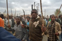 More than a thousand miners took to the streets of Marikana to show their discontent