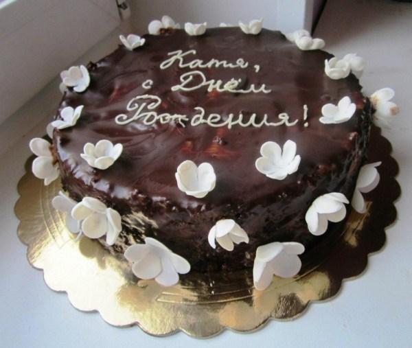 Шоколадная глазурь для торта из шоколада. Рецепт с фото ...