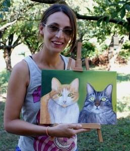 Cinzia Ghio l'artista di Gattasso