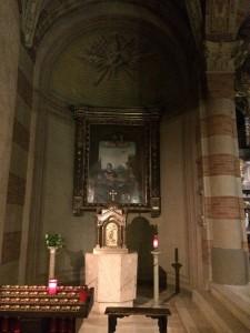L'abside che custodisce la tavola di Tortona