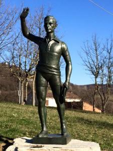 Casa Coppi Castellania - La statua di Fausto Coppi di Roma 1960