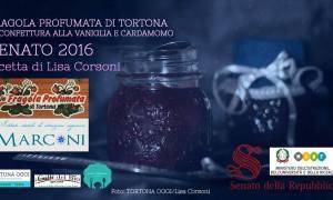 Ricetta – Fragola profumata di Tortona in confettura alla vaniglia e cardamomo, Senato 2016