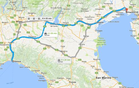Il percorso della via Postumia