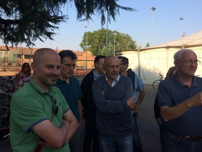 Il comitato dei colli di coppi a Piovera per l'inaugurazione del Bike Point di VENTO