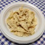 Reginette alla aià delicata con mollica di pane e noci