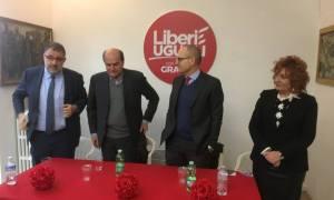 Pierluigi Bersani a Tortona per inaugurare il Circolo di Liberi e Uguali