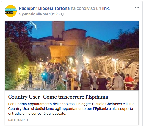 podcast audio del decimo country user di radio pnr tortona