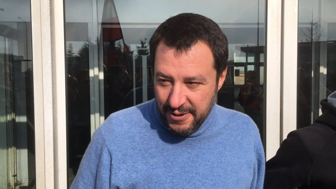 Matteo Salvini a Novi Ligure
