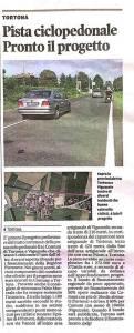AArticolo della Provincia Pavese su Pedo ciclabile Tortona Viguzzolo