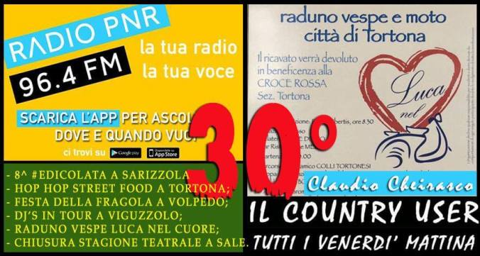 Claudio Cheirasco Il Country User di Radio PNR