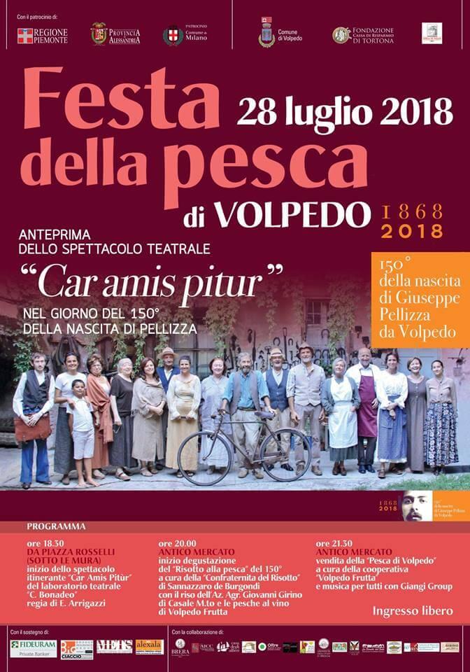 Torna la Festa della Pesca di Volpedo nel giorno del 150° anniversario della nascita di Giuseppe Pellizza