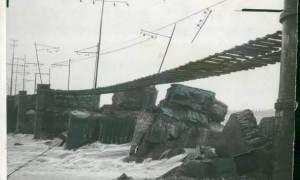 Il Ponte Ferroviario sullo Scrivia, nel 1960 crollò per le intemperie