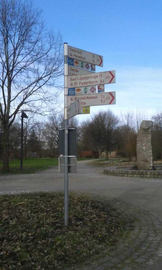 La segnaletica dedicata alle bici in germania