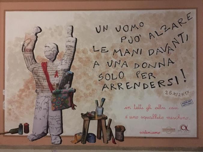 Il Murale di Fabrizio Falchetto alla Palestra Bianca di Tortona