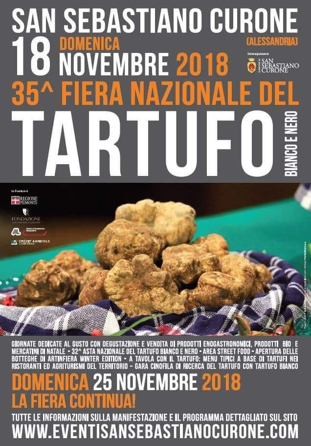 Locandina della fiera del tartufo 2018 a san sebastiano curone