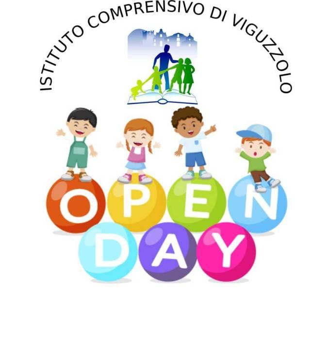 Il logo dell'open day 2018 dell'Istituto Comprensivo di Viguzzolo
