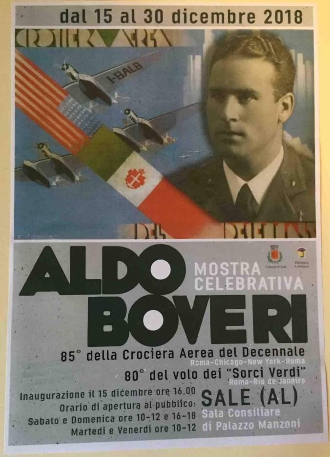 Manifesto della mostra su Aldo Boveri a Sale